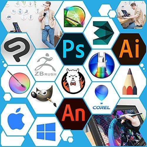 tableta grafica xp pen artist 22 pro para photoshop illustrator zbrush toonboom