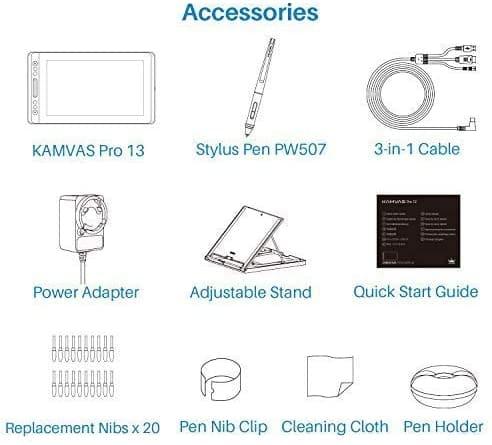 Accesorios Huion Kamvas Pro 13